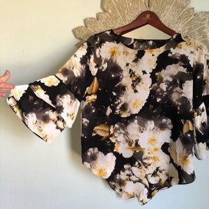 Vibrant Alfani Silk Floral Top